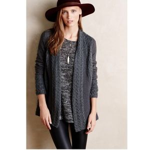 Anthro Knitted & Knotted Regan Mix Stitch Cardi